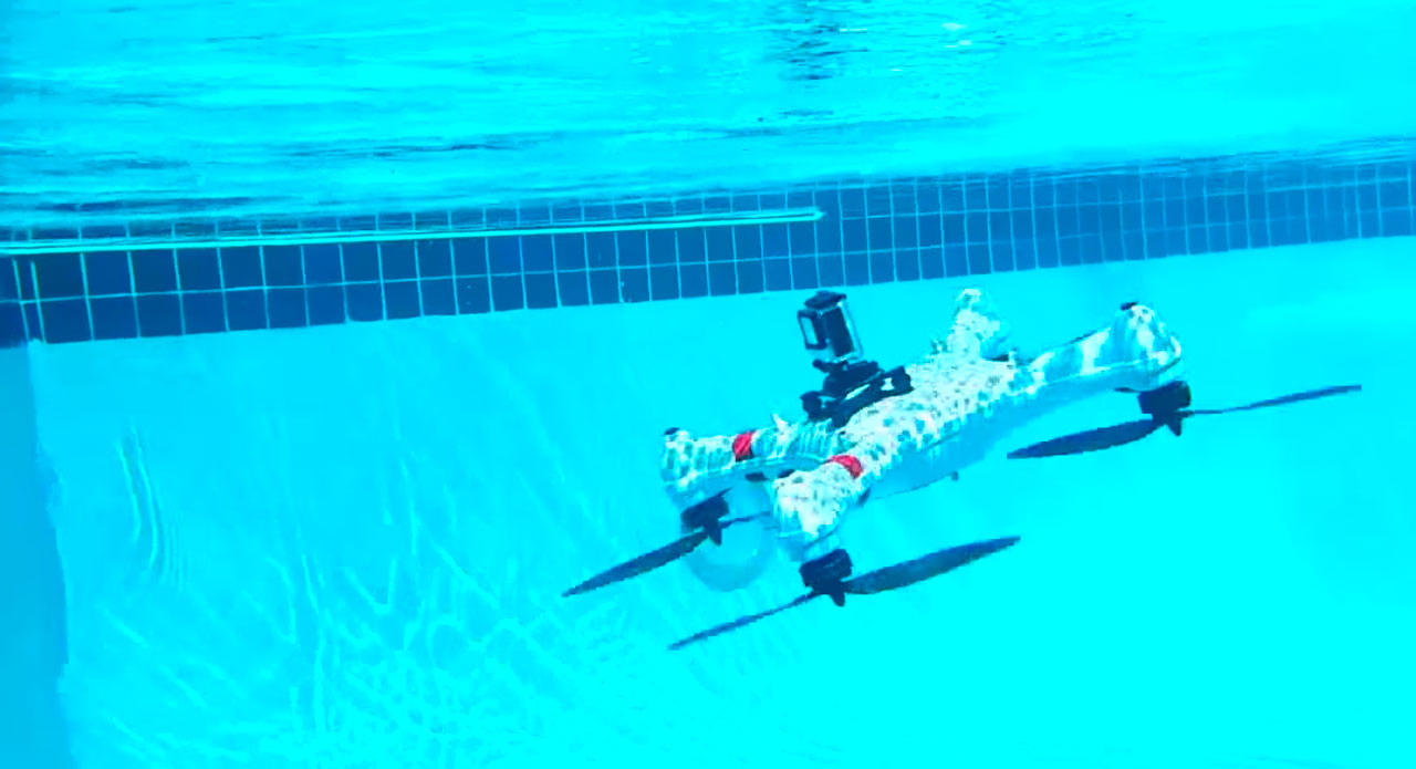 Подводный квадрокоптер своими руками держатель планшета мавик по выгодной цене